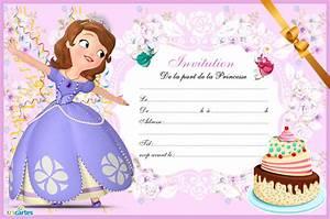 Theme Anniversaire Fille : carte invitation princesse sofia carte anniv ~ Melissatoandfro.com Idées de Décoration