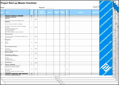 Project Management Document Templates Civil Engineering 9 Project Checklist Template Sletemplatess