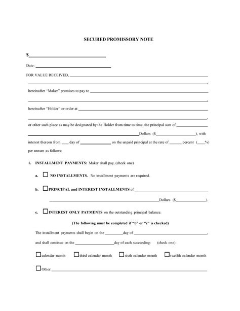 free promissory note template 45 free promissory note templates forms word pdf template lab