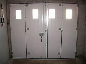 Porte de garage en bois 4 vantaux sur mesure Maison