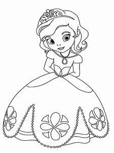 Dibujos Para Colorear La Princesa Sofa