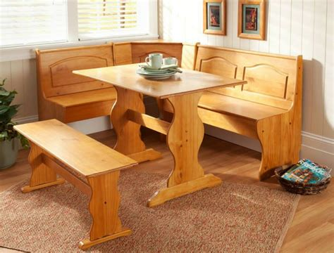 kitchen nook corner dining breakfast set table bench