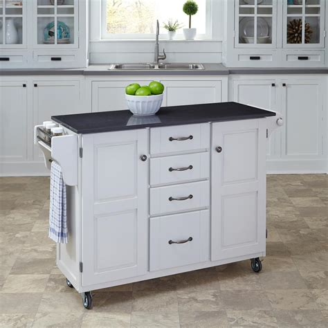 kitchen islands home depot home decorators collection fynn white kitchen cart with