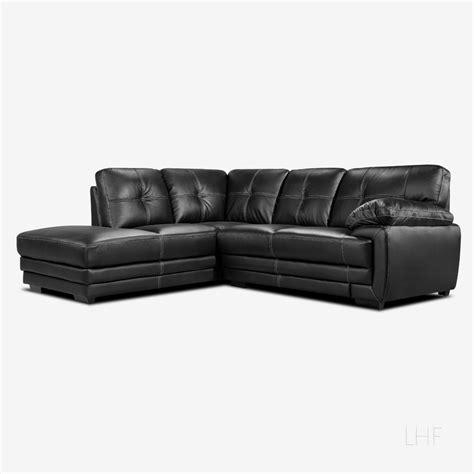 black leather corner settee lazio black leather corner sofa left