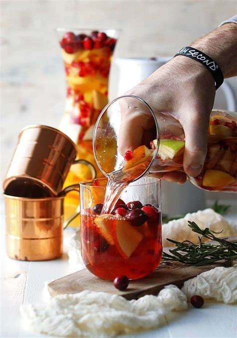Fall Sangria Recipe With Apples And Cranberries