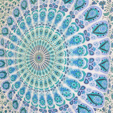small white boho style mandala wall tapestry indian throw royalfurnish com