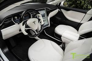 White Tesla Model S 1.0 - Custom Ferrari White Interior – T Sportline - Tesla Model S, 3, X & Y ...