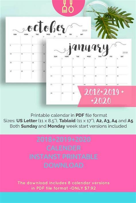 calendar ideas pinterest calendar printable