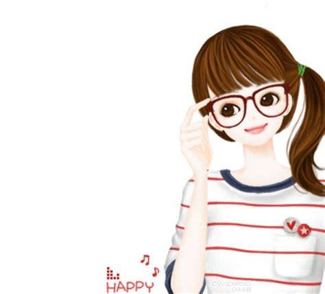 Anime Kacamata Cantik Gambar Kartun Cewek Cantik Daunbuah