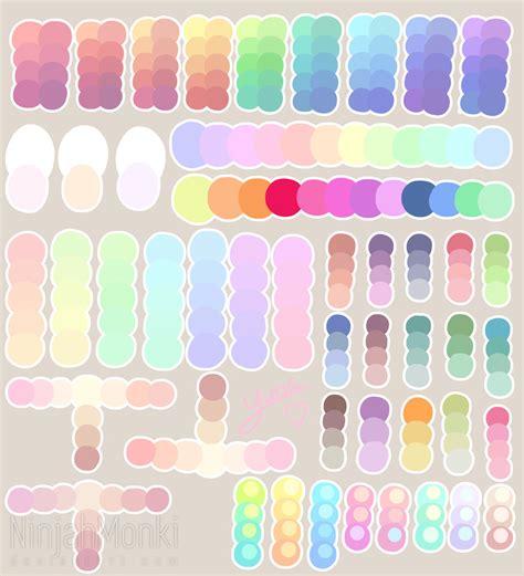 pastel color palette pastel colour palette by ninjahmonki on deviantart