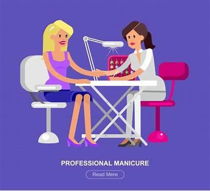 Mani Pedi Beauty Saloon Template Manicure Illustrations