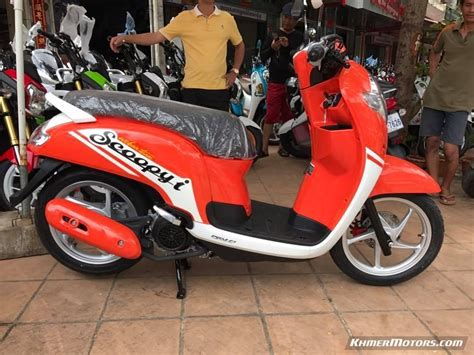 Pcx 2018 Price In Cambodia by Honda Scoopy I 2018 ស រ ថ ម Price Updated Khmer