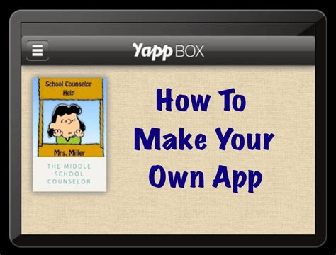 how to make your own lava l make your own app the middle counselor
