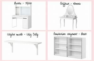 Meuble Maquillage Ikea : stunning une jolie chambre avec ikea with petite coiffeuse ikea ~ Teatrodelosmanantiales.com Idées de Décoration
