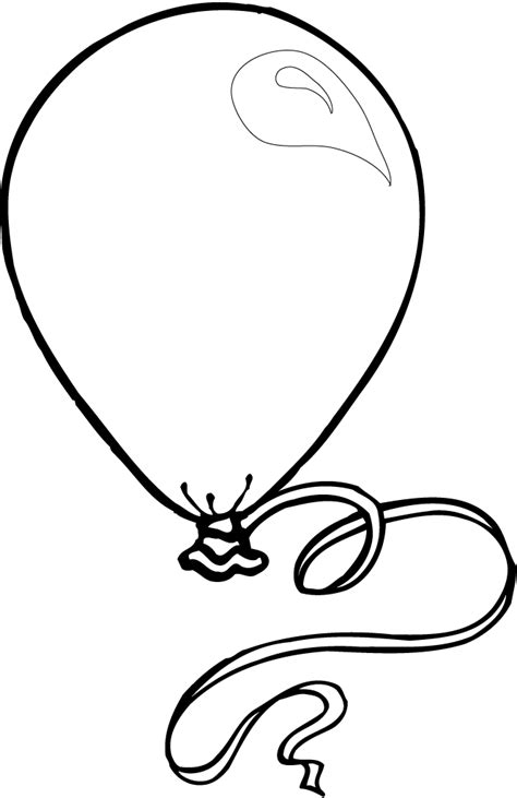 balloon outline coloring home