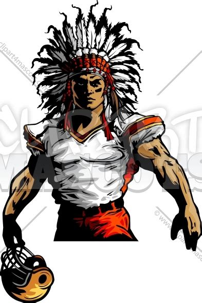 Indian Chief Image by Indian Chief Football Mascot Graphic Vector