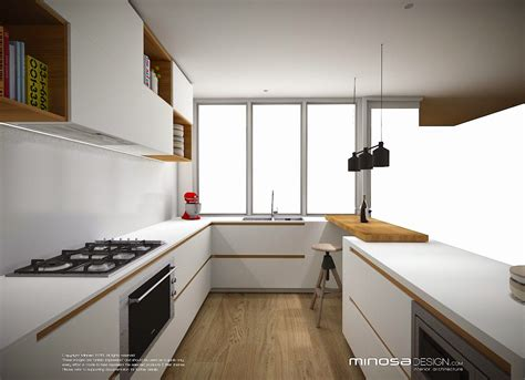 Minosa Design: Defining small kitchen space with a touch