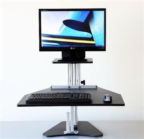 Kangaroo Standing Desk by Kangaroo Sit Stand Workstation Seated
