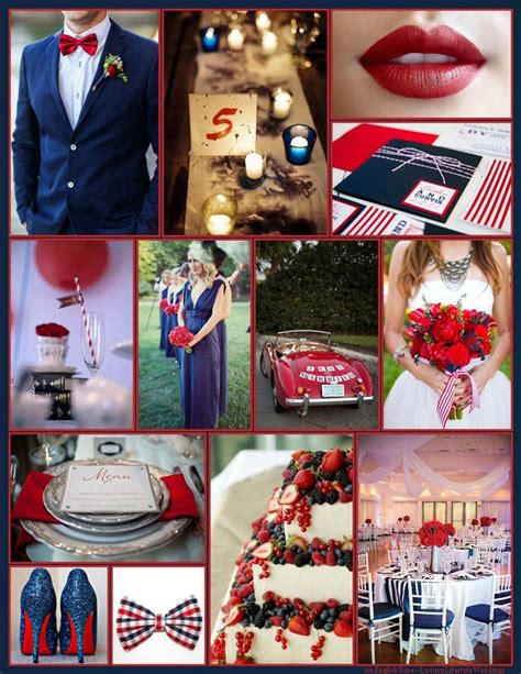 red white blue quot i do quot july wedding inspiration