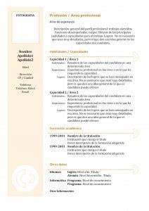 Modelos y plantillas de currículum vitae Joblers