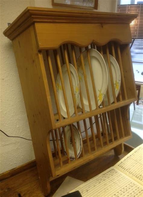 pine plate rack vintage retro