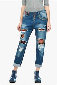 DESIGUAL Embellished Denim Jeans from Florida by i Tesori