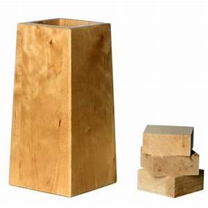 Pied De Lit En Bois : pieds r hausseurs de lit ajustables ~ Premium-room.com Idées de Décoration