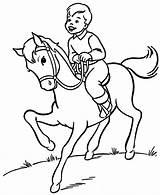 Horse Coloring Riding Pages Printable Rider Boy Horses Honkingdonkey Trick Foal Horseback Colouring Adult Boys Sheets Popular Sketch Coloringhome Farm sketch template