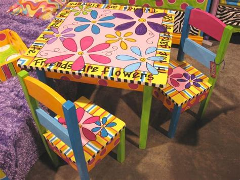 flower table 2 chairs craft ideas