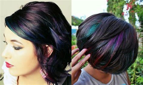 Admiring Brunettes Oil Slick Hair Colors 2017