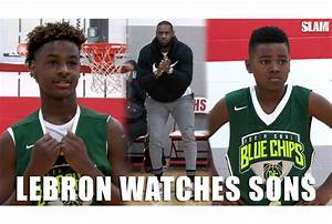 LeBron James Watches Sons Bronny and Bryce in Rubber City ...