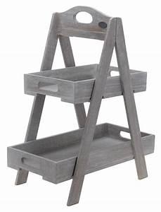 Etagere Aus Holz : holz etagere mit 2 etagen holzregal blumenregal dekoregal obstst nder zeitung ebay ~ Indierocktalk.com Haus und Dekorationen