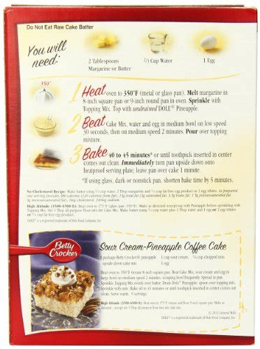 betty crocker pineapple upside  cake mix  ounce