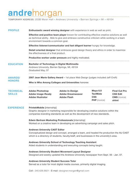 Resume Layout by Welcome To The Not So Exciting Land Of Decent Resume