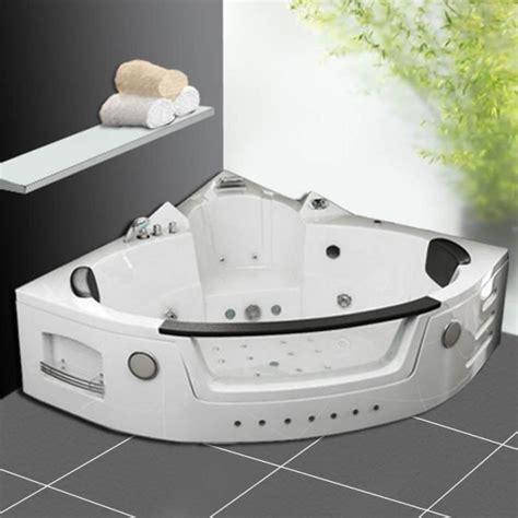 baignoire baln 233 o d angle 2 places 152x152 hydromassantes radio chromo achat vente baignoire