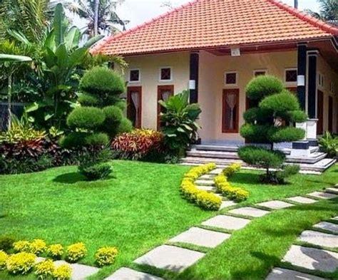 desain taman rumah cantik minimalis sederhana  lensarumahcom
