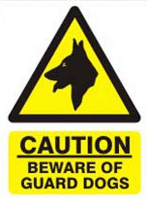 beware  guard dog sign goldenacresdogscom