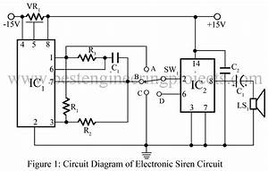 electronic siren circuit engineering projects With automotive electronic circuits