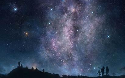 Sky Night Stars Desert Px Definition Kb
