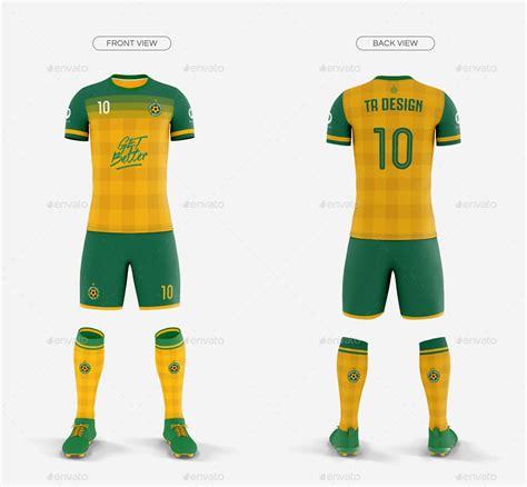 mens full soccer team kit mockup   images