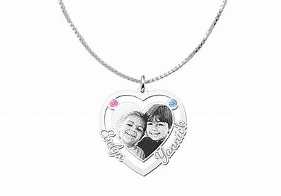 Engraving Birthstones Pendant Heart Herz Silber Lasergravur