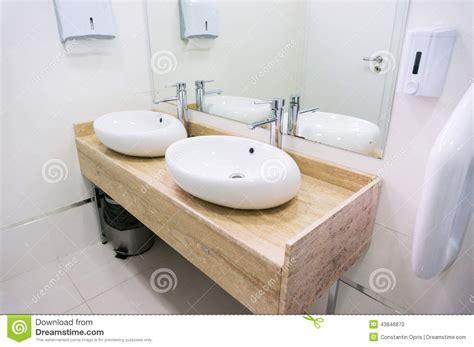 Bathroom Sink In Restaurant Stock Photo  Image 43846870