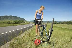 How To Ride A Bike With A Flat Tire I Love Bicycling