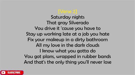 Saturday Nights (lyrics)