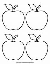 Apple Outline Simple Fall Coloring Pages Printable Primarygames Pdf Games sketch template