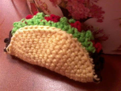 crochet cuisine crochet taco crochet food