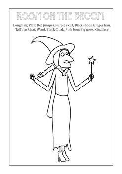 room   broom witch vocabulary match printable  fun   sun