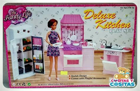 mueble  casa de munecas barbie cocina mediana