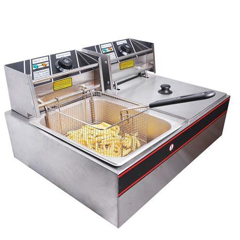 fryer commercial fryers deep electric countertop yescom