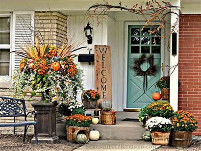 Fall Decorating Outdoor Mums Decorate Decorations Decor